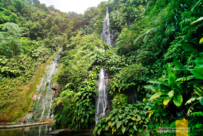 The Botong Twin Waterfalls at Bicol's BacMan Geothermal Plant