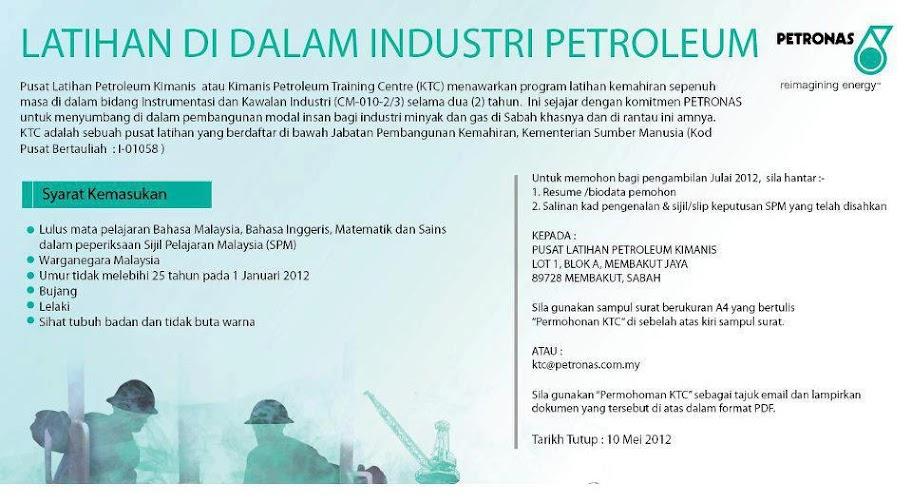 permohonan program latihan dalam industri petronas 2012