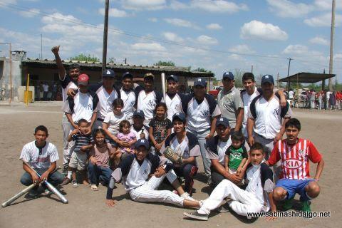 Equipo Yankees del torneo de softbol del Club Sertoma