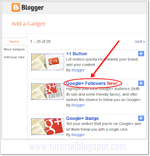 Add Gadget,blogger widget
