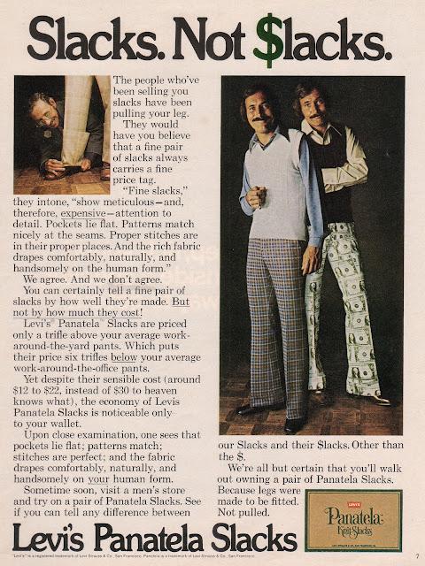 1973 Levi's Panatela Slacks