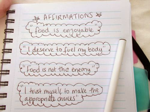 Recovery Positive Meal Time Affirmations