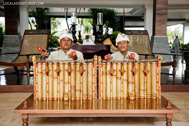 The St Regis Bali Resort Lobby in Nusa Dua Indonesia.