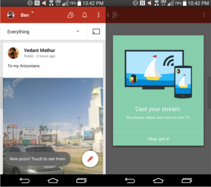 Chromecast Google Plus