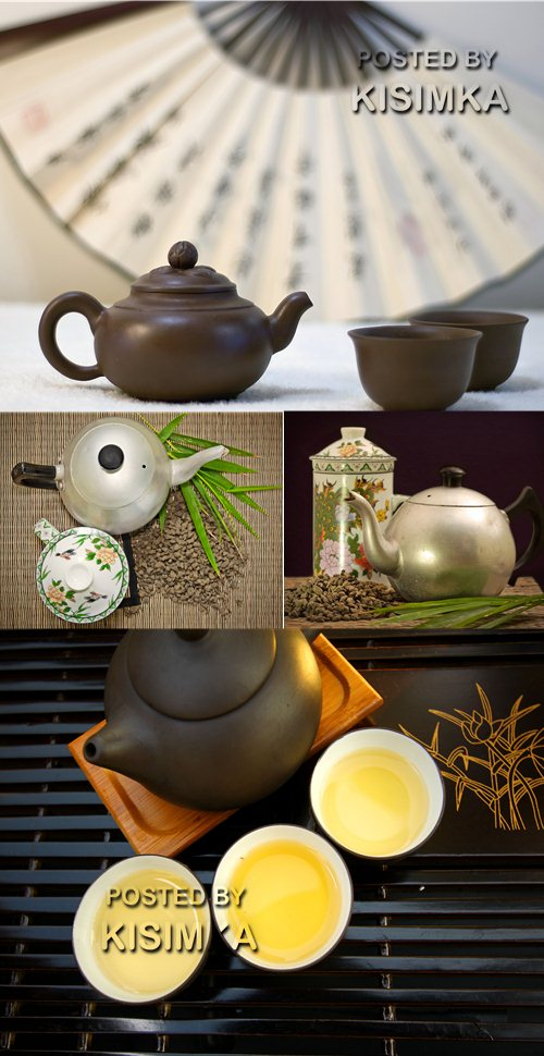 Stock Photo: Tea making set
