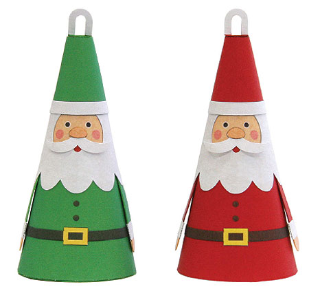 2011 Christmas Tree Ornament Papercraft Santa Claus