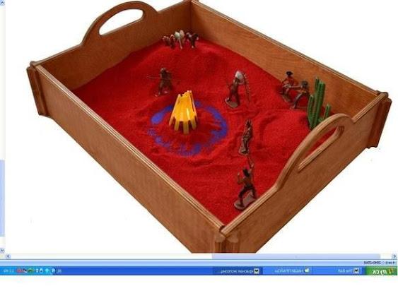 игры с песком -дикий запад песочная терапия