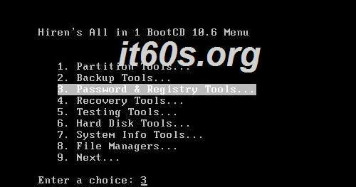 Cách loại bỏ mật khẩu Windows bằng Hiren's Boot 2