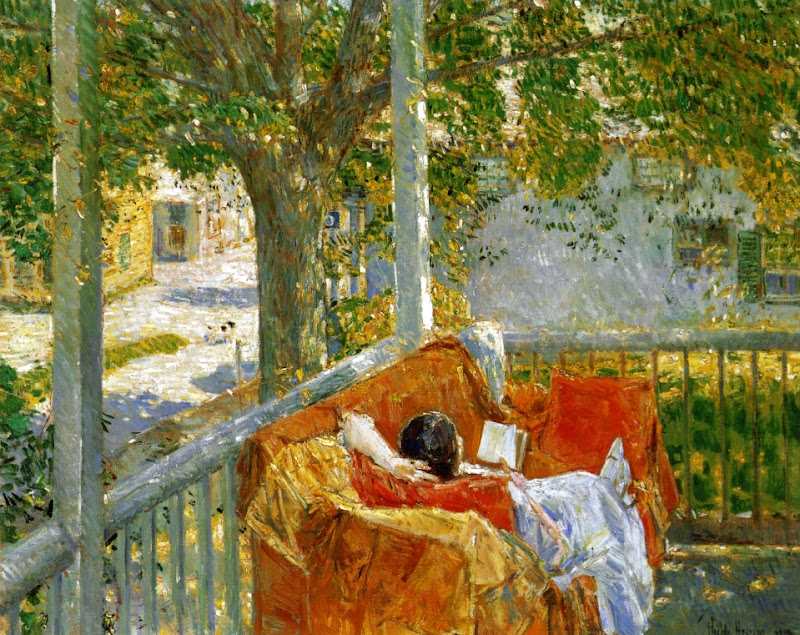 Childe Hassam - Couch on the Porch, Cos Cob