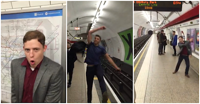 Jogo épico de Ping-Pong no Metro de Londres