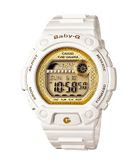 Jam Tangan Wanita Analog-Digital Tali Karet Warna Hitam  Casio Baby G : BGA-195M-1A