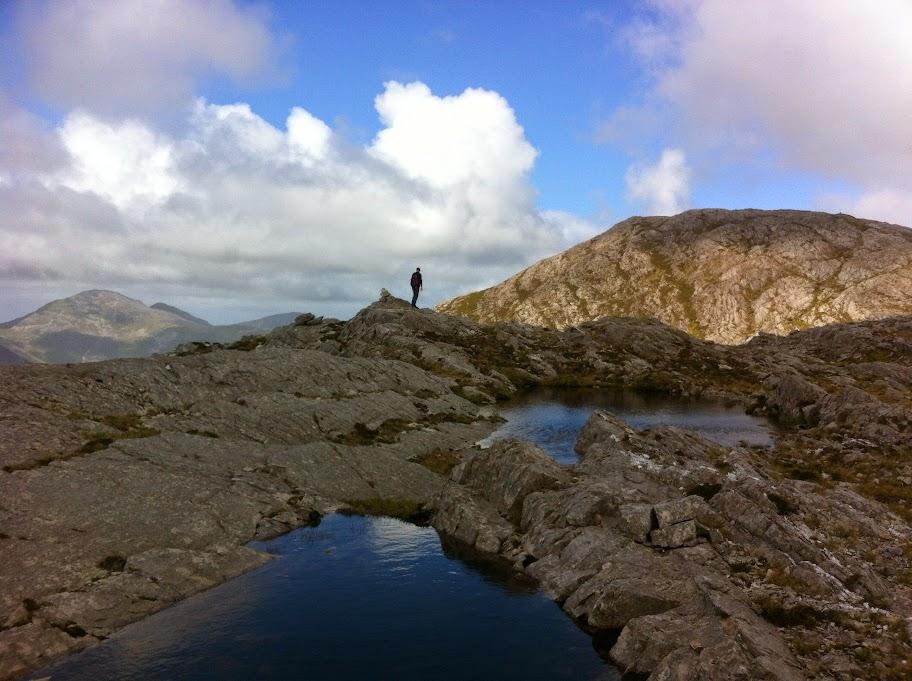 hiking Maamturks connemara Ireland
