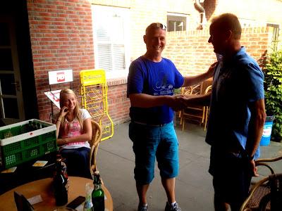Winnaar duowedstrijd Erik Kamphuis en Siebe Arens.