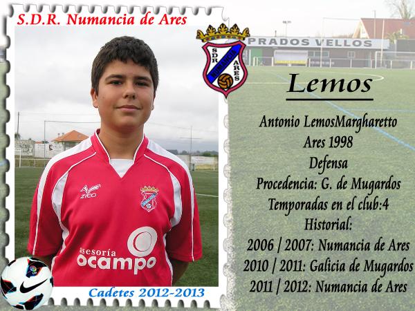 A.D.R. Numancia de Ares. Cadetes 2012-2013. Antonio Lemos