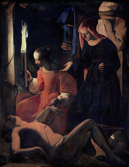 Georges de La Tour - St. Sebastian Tended by St. Irene