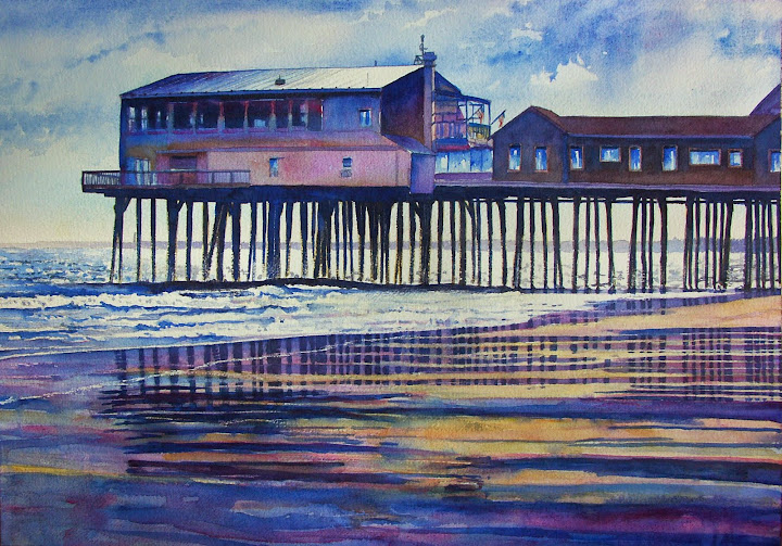 Old Orchard Pier. Artist of the Month: Paul McMahan