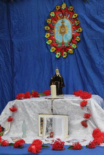 Altar de San Juan en el día de Corpus Christi en San Francisco de Yare, Municipio Bolivar, Miranda Venezuela