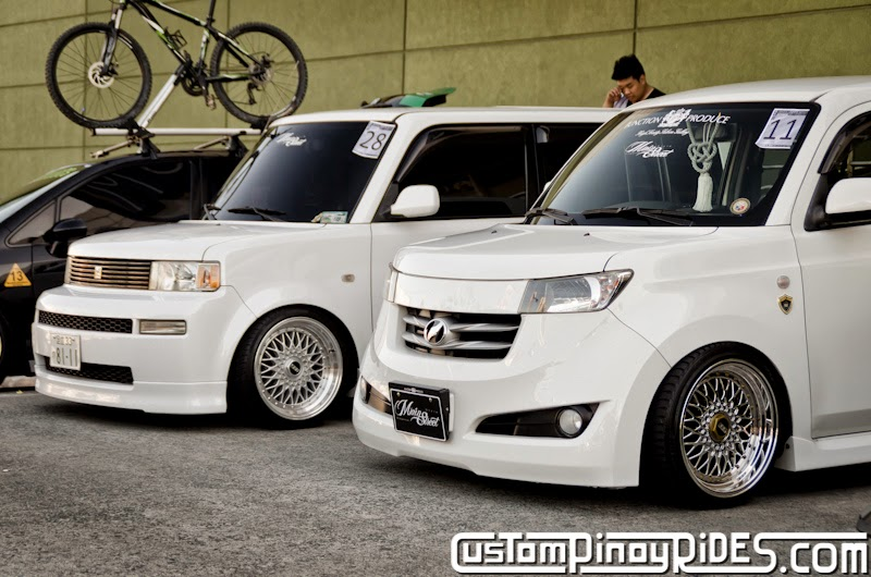 Slammed and Stanced Brothers Toyota bB1 and bB2 Custom Pinoy Rides Car Photography Manila Philippines Philip Aragones THE aSTIG pic2