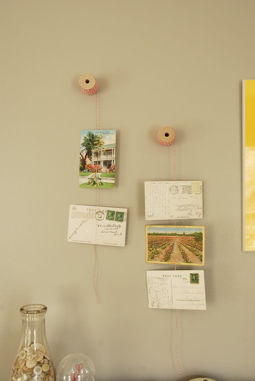 Blue Eyed Yonder DIY: Post Card Display   Vintage Event
