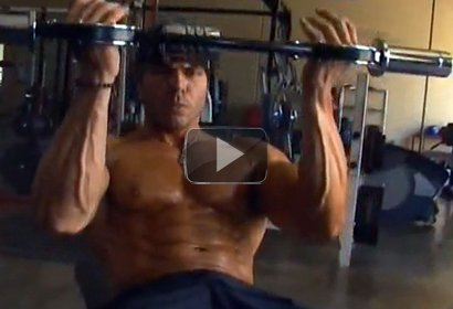 Bodybuilder / Model Nick Soto trains with The Burn Machine