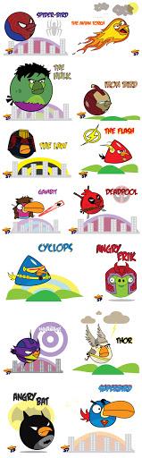 angrybirdshero E se os super heróis virassem Angry Birds?