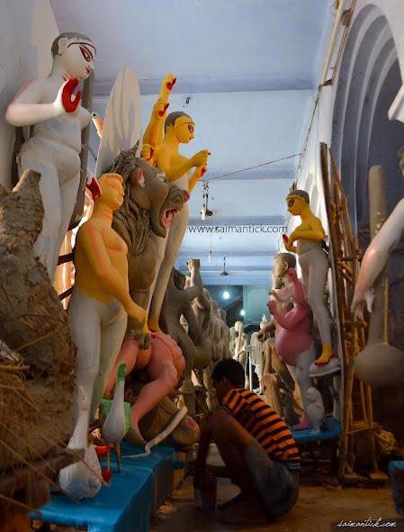 Durga Puja, Durga puja in Kolkata, Durga Pujo, Kumartuli, Kumortuli, Sharodotsav, Saimantick Bhadra Photography