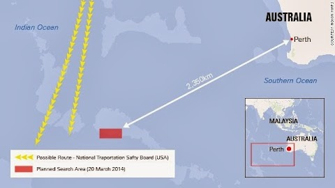 Objects spotted in Indian Ocean may be debris from Malaysia Airlines Flight 370