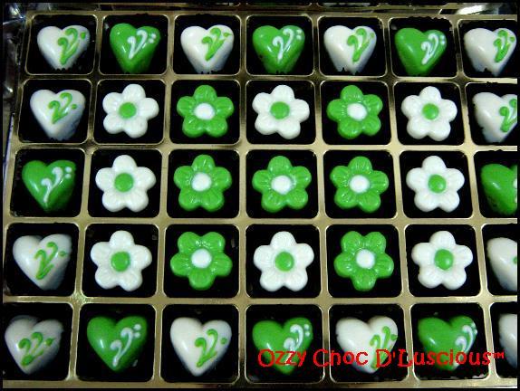 awards coklat hantaran hijau putih