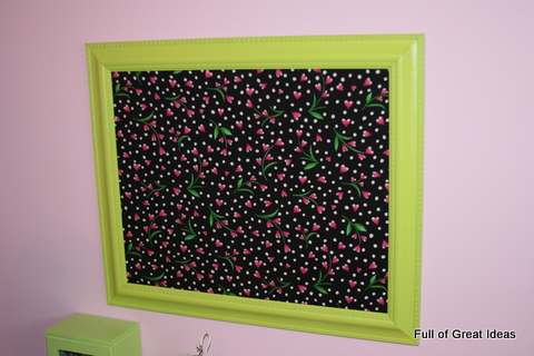 full of great ideas framed magnetic board on my 0 budget