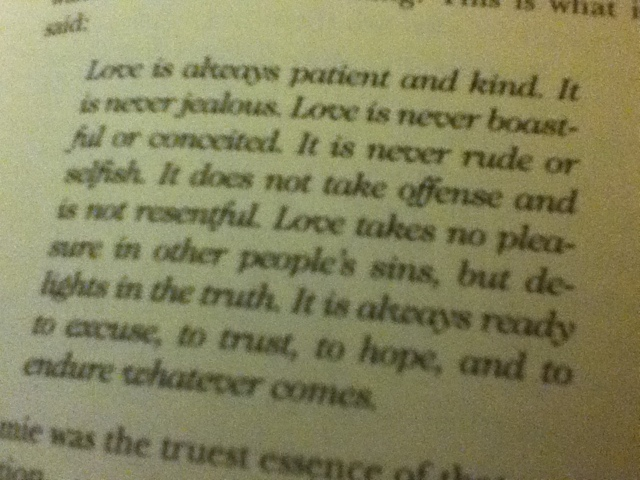 a walk to remember quotes love is always patient and kind - photo #5