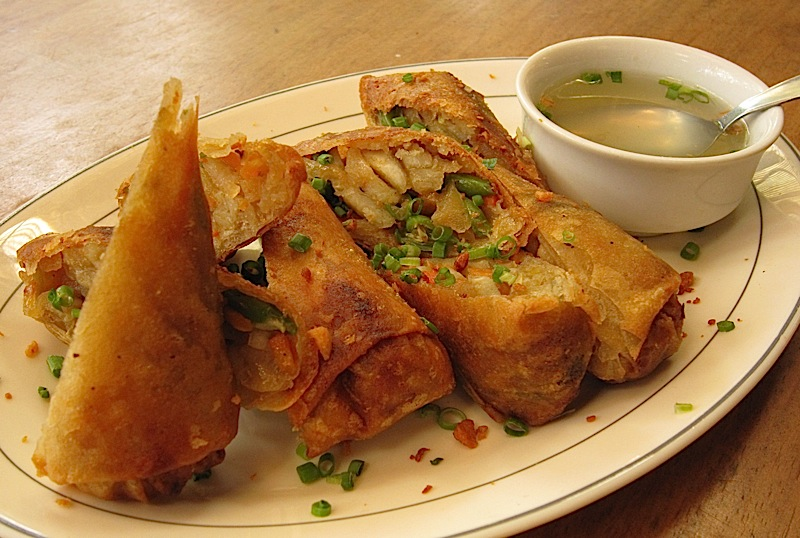 petite lumpiang gulay or fried vegetable spring roll at Patis Tito Garden Café