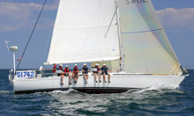 J/42 L Mariah sailing- a crusing racing sailboat