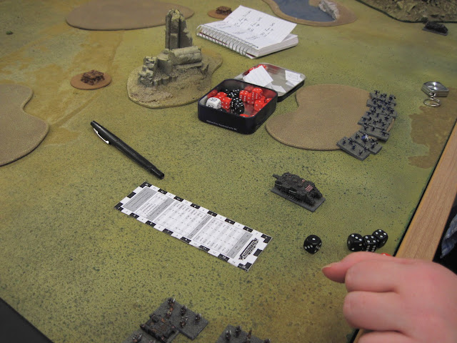 Ruth's Decimator prepares to grind forward yet again in the battle for Dave's Dice.