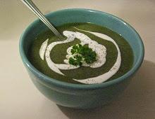 Soupe de céleri et épinards