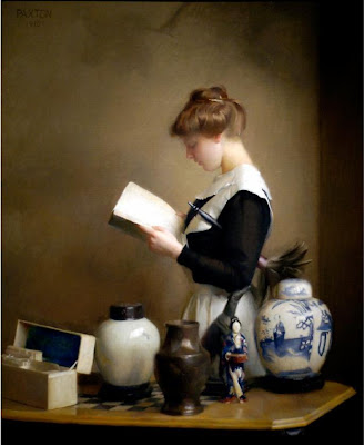 William McGregor Paxton - The Housemaid