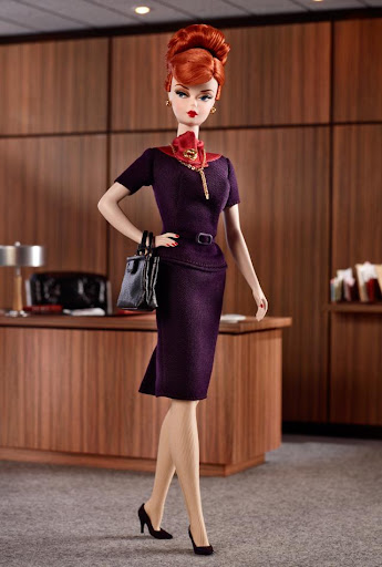 Barbie Silkstone o BFMC (Barbie Fasshion Model Collection) - Mad Men Joan Holloway