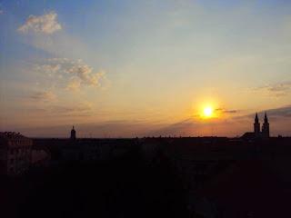 Sonnenaufgang über Sombor