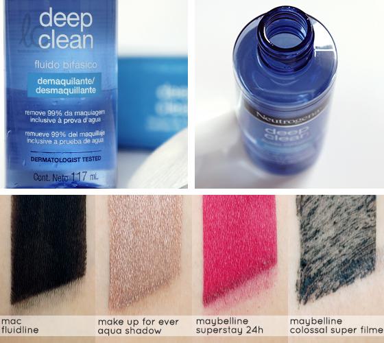 Testei: Neutrogena Deep Clean Fluido Demaquilante
