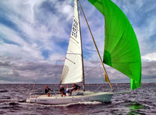 J/80 sailing- training off La Trinite, France