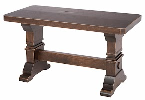 Tuscany Bench in Twilight Oak, 30″ x 17″ x 15″