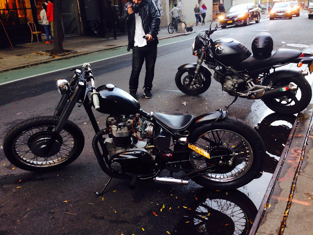 Tigho NYDucati Custom Triumph Chopper off Bowery