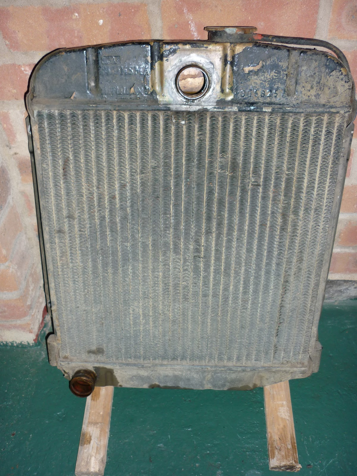 Radiator Removal And Restoration M38a1 Willys Jeep Electrical Wiring Once The Was Out A Quick Shake Of It Revealed That There Lot Debris Floating Around In Core Not Good For Or