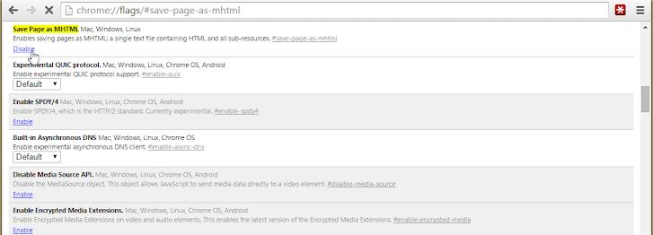 Mengaktifkan Fitur Simpan Berkas dalam Format MHTML pada Google Chrome
