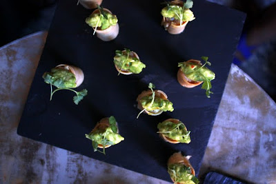 Canapes at the Connaught hotel Bar in London