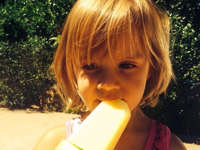 Pineapple ice pops