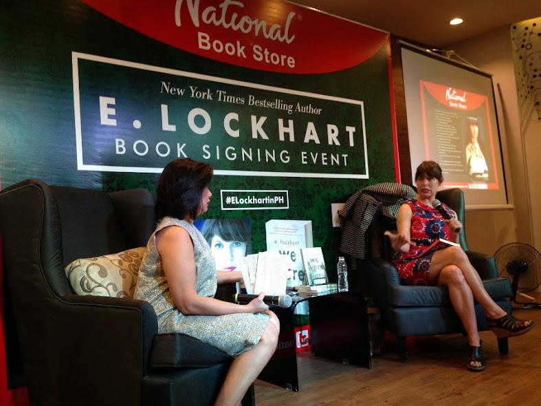 E. Lockhart book signing event in Manila