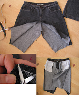 skirt out of old jeans/reconstruction part 2