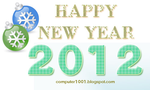 Happy New Year 2012 - Computer 1001