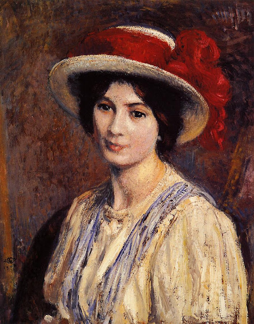Georges Lemmen - Hat with a Red Ribbon
