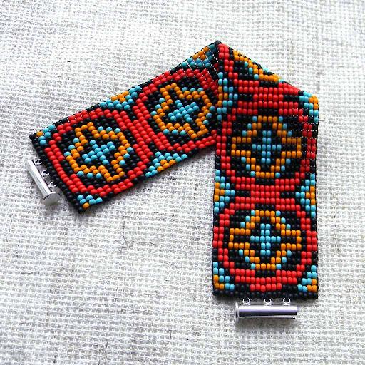 браслет ткачество бисер купить Anabel